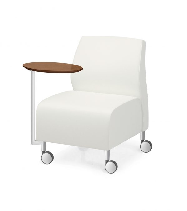 1 seat armless casters