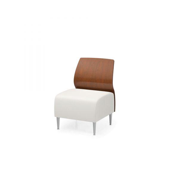 1 seat armless wood