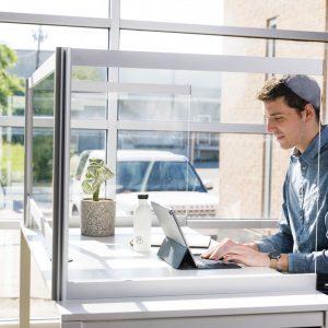 Desk Shield - Alan Desk - Loftwall