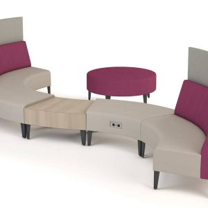 ERG Malibu Modular Lounge Healthcare Alan Desk