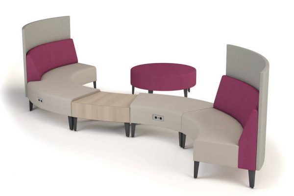 ERG Malibu Modular Lounge Healthcare Alan Desk
