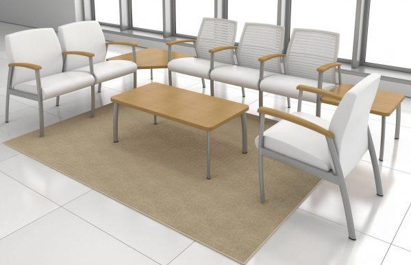 Krug Solis Multiple Seating Guest Healthcare Alan Desk