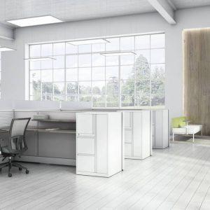 Global Total Office Evolve Panel System Alan Desk
