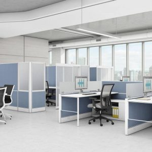 Global Total Office Compile Panel System Alan Desk
