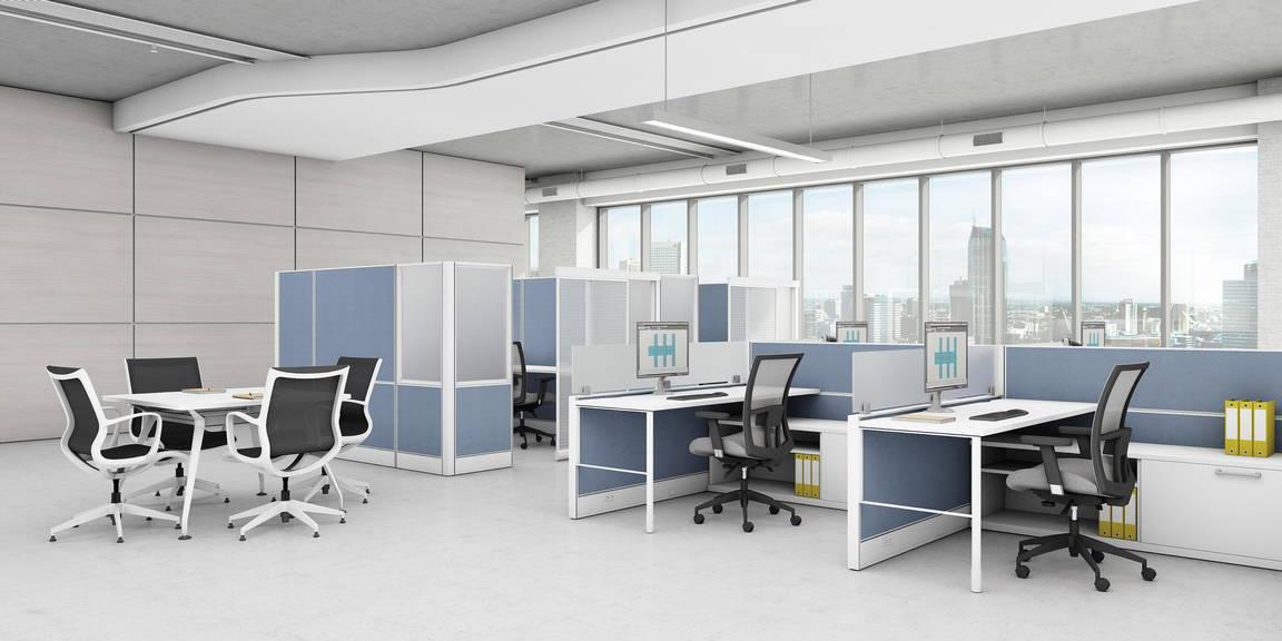 Global Total Office Compile Panel System Alan Desk