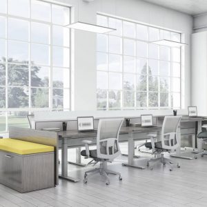 Global Total Office Evolve Power Beam Panel System Alan Desk