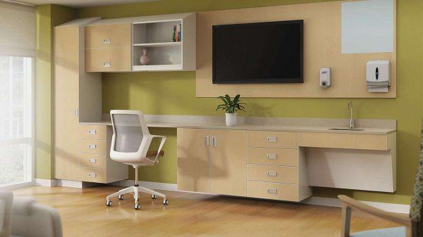 ofs carolina mile marker modular healthcare alan desk 16