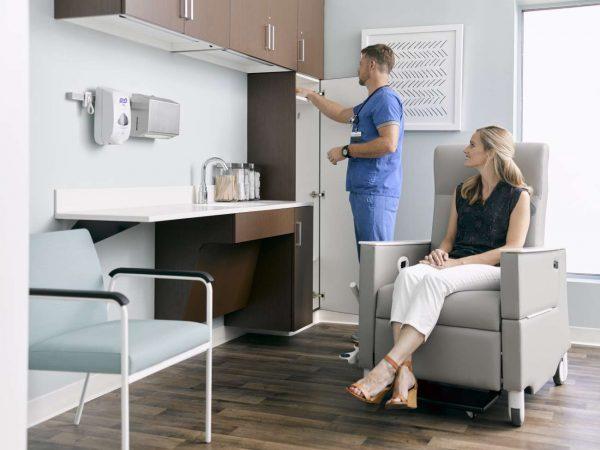 ofs carolina mile marker modular healthcare alan desk 31