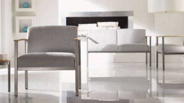 ofs carolina silver ion metal lounge seating alan desk 4