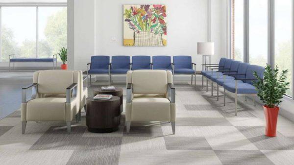 ofs carolina silver ion metal multiple guest seating healthcare alan desk 2