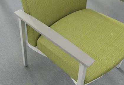 ofs carolina silver ion metal patient seating healthcare alan desk 4