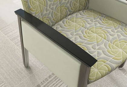ofs carolina silver ion wood lounge seating healthcare alan desk 2