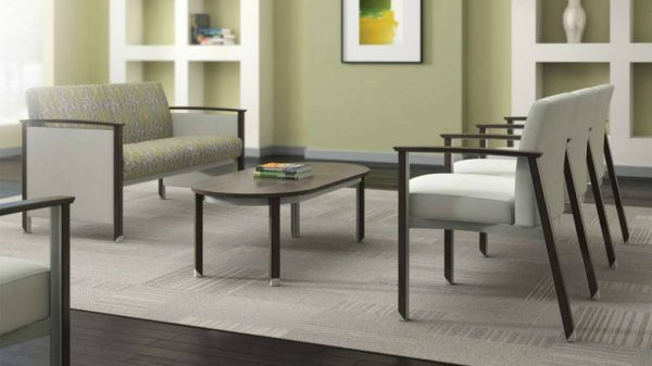 ofs carolina silver ion wood multiple guest seating healthcare alan desk 3