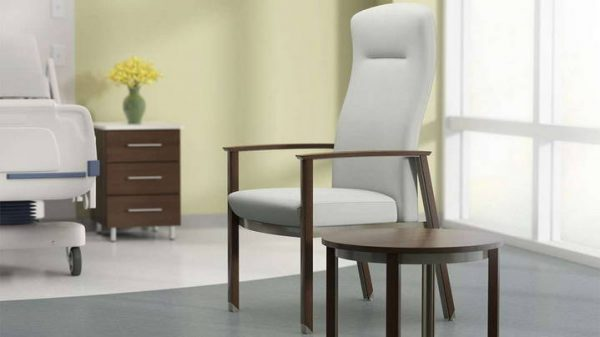 ofs carolina silver ion wood patient seating healthcare alan desk 1