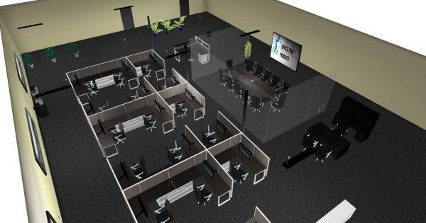 sis panel system alan desk 4
