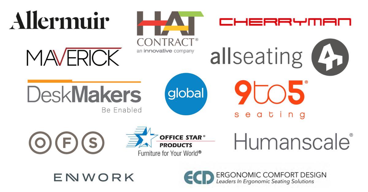 Office furniture brand logos