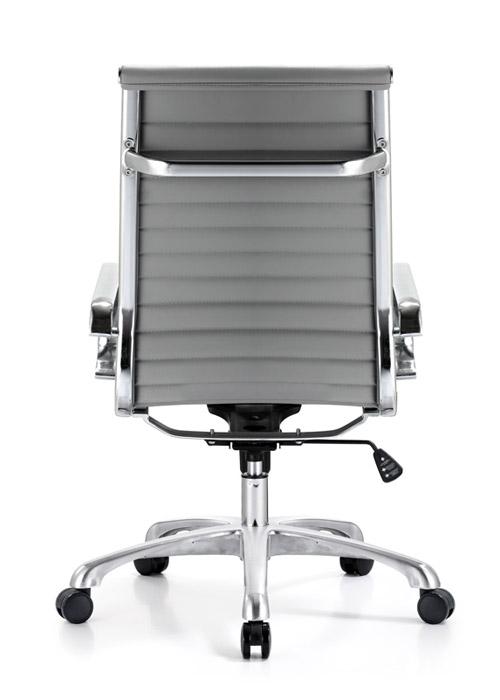 classic hi back chair conference weoodstock alan desk 11  <ul> <li>available black, off-white, and gray</li> <li>eco leather seating surfaces</li> <li>high polished triple plated chrome frame</li> <li>hand polished aluminum base</li> <li>oversized 60mm casters</li> <li>adjustable tilt tension</li> <li>tilt lock</li> <li>pneumatic gas height adjustment</li> <li>generous dimensions</li> <li>rated for 250 pounds</li> <li>available with and without arms</li> </ul>