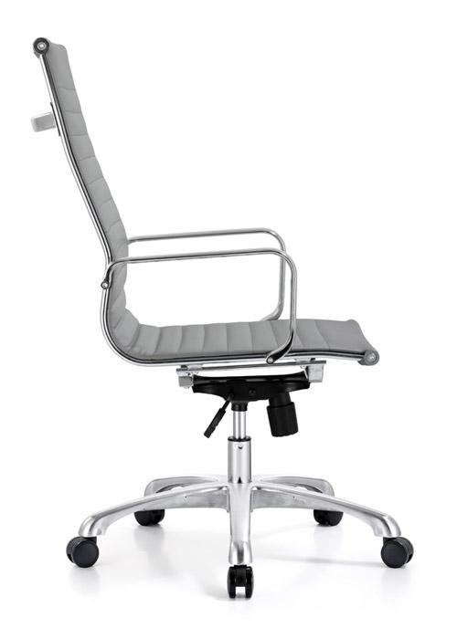 classic hi back chair conference weoodstock alan desk 12  <ul> <li>available black, off-white, and gray</li> <li>eco leather seating surfaces</li> <li>high polished triple plated chrome frame</li> <li>hand polished aluminum base</li> <li>oversized 60mm casters</li> <li>adjustable tilt tension</li> <li>tilt lock</li> <li>pneumatic gas height adjustment</li> <li>generous dimensions</li> <li>rated for 250 pounds</li> <li>available with and without arms</li> </ul>
