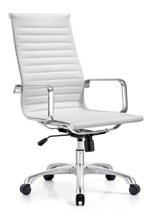 classic hi back chair conference weoodstock alan desk 13  <ul> <li>available black, off-white, and gray</li> <li>eco leather seating surfaces</li> <li>high polished triple plated chrome frame</li> <li>hand polished aluminum base</li> <li>oversized 60mm casters</li> <li>adjustable tilt tension</li> <li>tilt lock</li> <li>pneumatic gas height adjustment</li> <li>generous dimensions</li> <li>rated for 250 pounds</li> <li>available with and without arms</li> </ul>