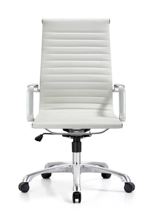 classic hi back chair conference weoodstock alan desk 14  <ul> <li>available black, off-white, and gray</li> <li>eco leather seating surfaces</li> <li>high polished triple plated chrome frame</li> <li>hand polished aluminum base</li> <li>oversized 60mm casters</li> <li>adjustable tilt tension</li> <li>tilt lock</li> <li>pneumatic gas height adjustment</li> <li>generous dimensions</li> <li>rated for 250 pounds</li> <li>available with and without arms</li> </ul>