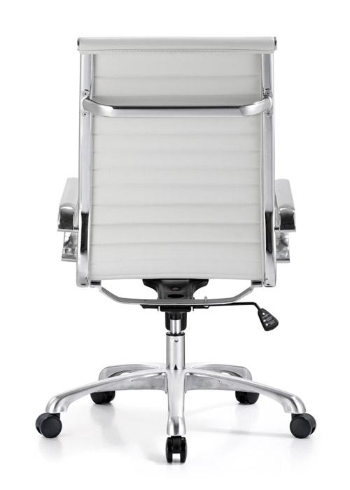 classic hi back chair conference weoodstock alan desk 15  <ul> <li>available black, off-white, and gray</li> <li>eco leather seating surfaces</li> <li>high polished triple plated chrome frame</li> <li>hand polished aluminum base</li> <li>oversized 60mm casters</li> <li>adjustable tilt tension</li> <li>tilt lock</li> <li>pneumatic gas height adjustment</li> <li>generous dimensions</li> <li>rated for 250 pounds</li> <li>available with and without arms</li> </ul>