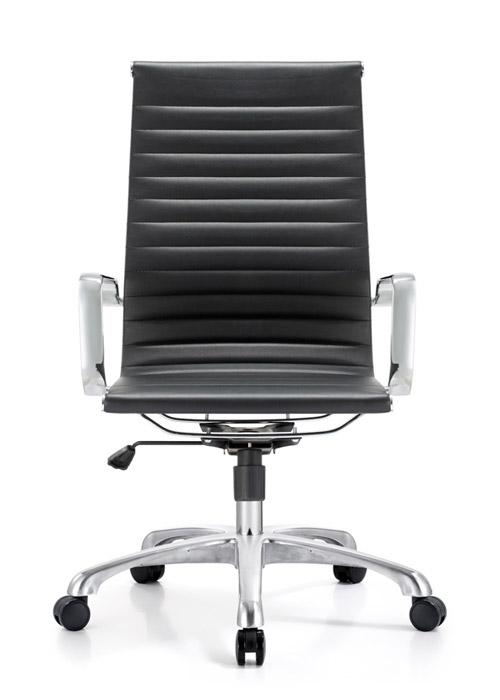classic hi back chair conference weoodstock alan desk 4  <ul> <li>available black, off-white, and gray</li> <li>eco leather seating surfaces</li> <li>high polished triple plated chrome frame</li> <li>hand polished aluminum base</li> <li>oversized 60mm casters</li> <li>adjustable tilt tension</li> <li>tilt lock</li> <li>pneumatic gas height adjustment</li> <li>generous dimensions</li> <li>rated for 250 pounds</li> <li>available with and without arms</li> </ul>