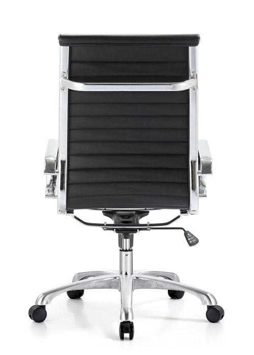 classic hi back chair conference weoodstock alan desk 5  <ul> <li>available black, off-white, and gray</li> <li>eco leather seating surfaces</li> <li>high polished triple plated chrome frame</li> <li>hand polished aluminum base</li> <li>oversized 60mm casters</li> <li>adjustable tilt tension</li> <li>tilt lock</li> <li>pneumatic gas height adjustment</li> <li>generous dimensions</li> <li>rated for 250 pounds</li> <li>available with and without arms</li> </ul>
