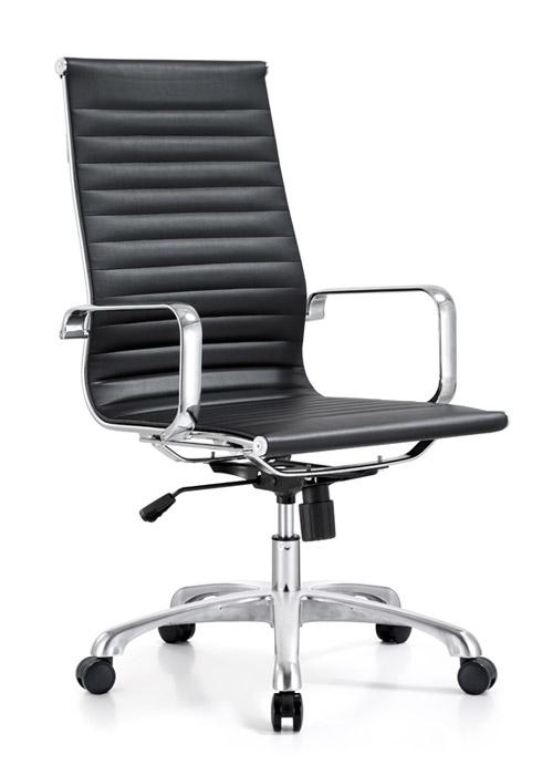 classic hi back chair conference weoodstock alan desk 8  <ul> <li>available black, off-white, and gray</li> <li>eco leather seating surfaces</li> <li>high polished triple plated chrome frame</li> <li>hand polished aluminum base</li> <li>oversized 60mm casters</li> <li>adjustable tilt tension</li> <li>tilt lock</li> <li>pneumatic gas height adjustment</li> <li>generous dimensions</li> <li>rated for 250 pounds</li> <li>available with and without arms</li> </ul>
