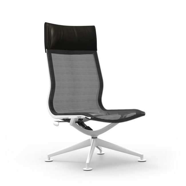 iDesk Curva Hi-Back Lounge Chair Alan Desk