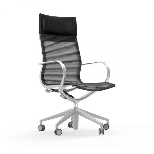iDesk Curva Hi-Back Chair Mesh Alan Desk