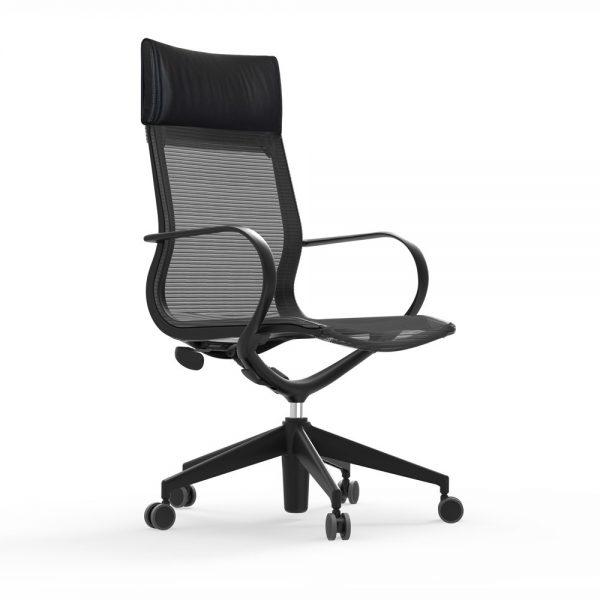 iDesk Curva Hi back Nylon Chair Alan Desk