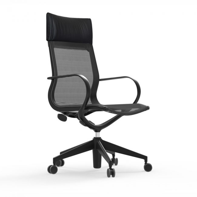 iDesk Curva Hi back Nylon Chair Alan Desk