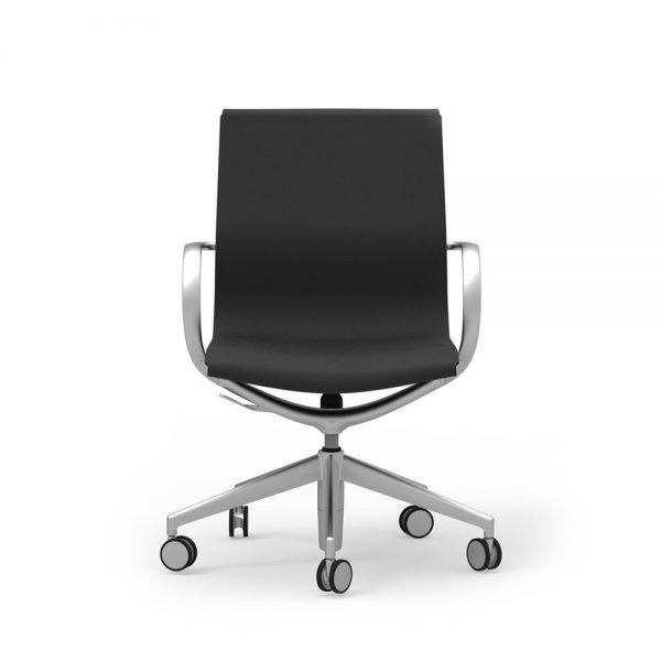 iDesk Curva Mid Back Leather Alan Desk