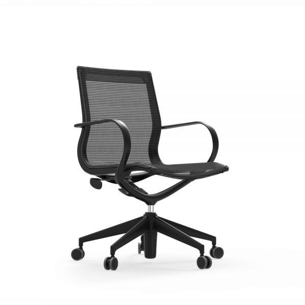 iDesk Curva Mid Back Chair Nylon Alan Desk