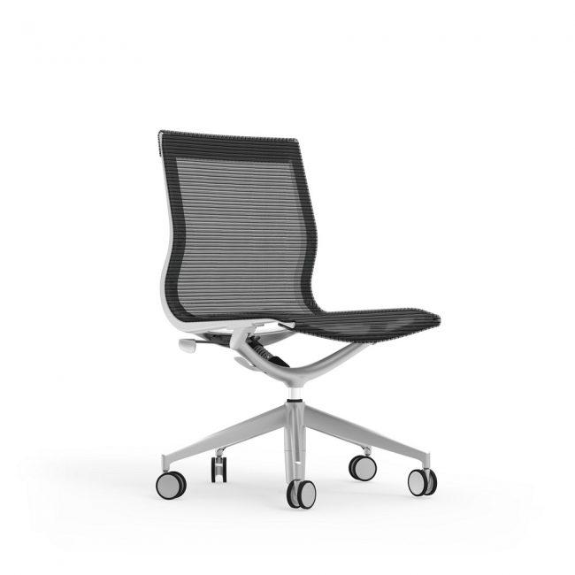 iDesk Curva Mid back Armless Chair Alan Desk