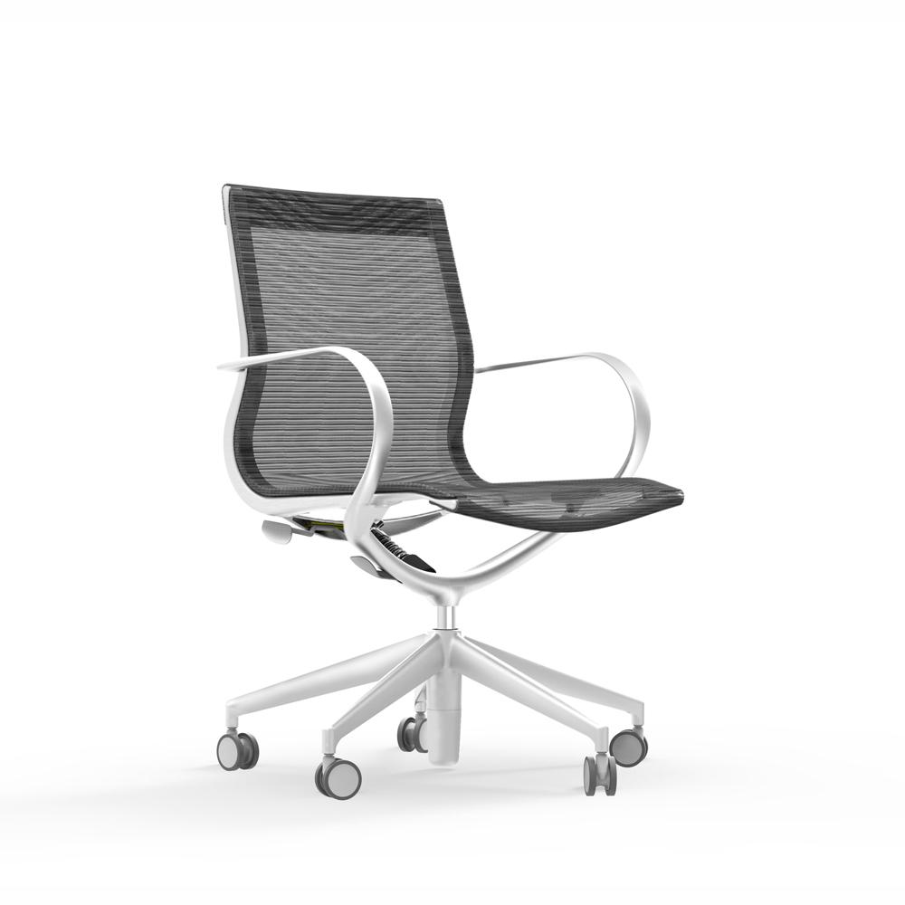iDesk Curva Mid Back Mesh Chair Alan Desk
