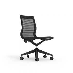 iDesk Curva Mid back Nylon Armless Chair Alan Desk