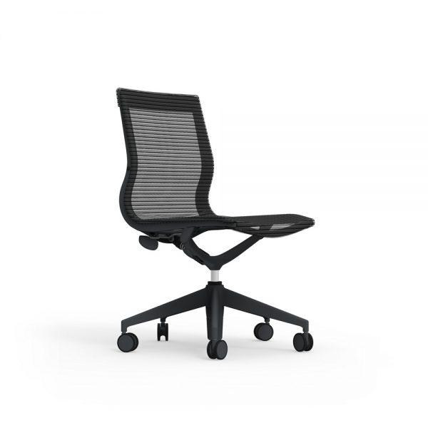 iDesk Curva Mid back Nylon Armless Chair Alan Desk