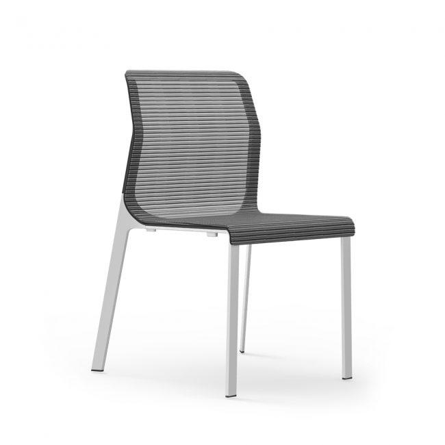 iDesk Curvinna Side Chair Armless Alan Desk
