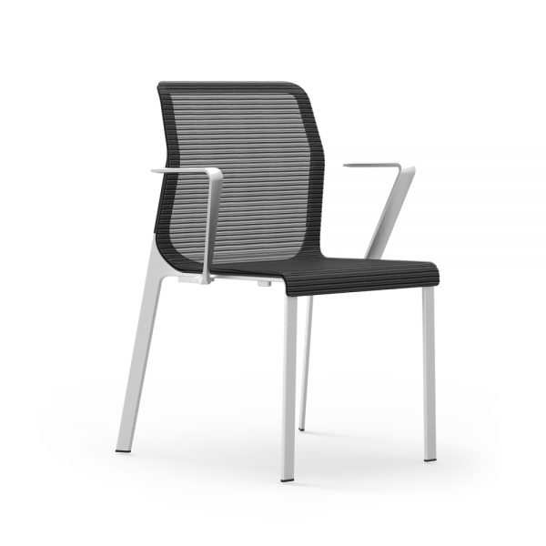 idesk curvinna guest chair with arms alan desk