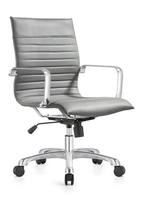 janice mid back conference chair woodstock alan desk 11 <ul> <li>eco leather seating surfaces</li> <li>steel inner frame with web internal seat and back suspension</li> <li>waterfall seat shape</li> <li>hand polished aluminum base and arms</li> <li>oversized 60mm dual wheel carpet casters standard. hard floor casters or glides optional.</li> <li>adjustable tilt tension</li> <li>tilt lock</li> <li>pneumatic gas height adjustment</li> <li>generous dimensions</li> <li>rated for 300 pounds</li> </ul>