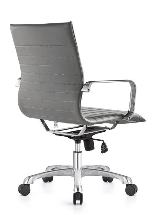 janice mid back conference chair woodstock alan desk 12 <ul> <li>eco leather seating surfaces</li> <li>steel inner frame with web internal seat and back suspension</li> <li>waterfall seat shape</li> <li>hand polished aluminum base and arms</li> <li>oversized 60mm dual wheel carpet casters standard. hard floor casters or glides optional.</li> <li>adjustable tilt tension</li> <li>tilt lock</li> <li>pneumatic gas height adjustment</li> <li>generous dimensions</li> <li>rated for 300 pounds</li> </ul>