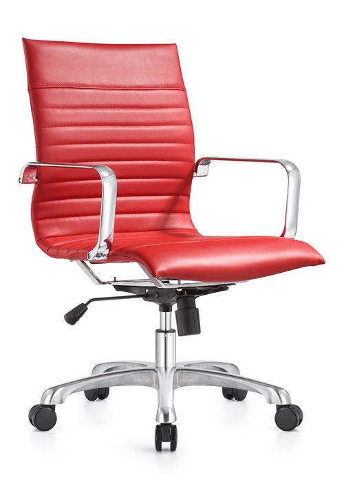 janice mid back conference chair woodstock alan desk 15 <ul> <li>eco leather seating surfaces</li> <li>steel inner frame with web internal seat and back suspension</li> <li>waterfall seat shape</li> <li>hand polished aluminum base and arms</li> <li>oversized 60mm dual wheel carpet casters standard. hard floor casters or glides optional.</li> <li>adjustable tilt tension</li> <li>tilt lock</li> <li>pneumatic gas height adjustment</li> <li>generous dimensions</li> <li>rated for 300 pounds</li> </ul>