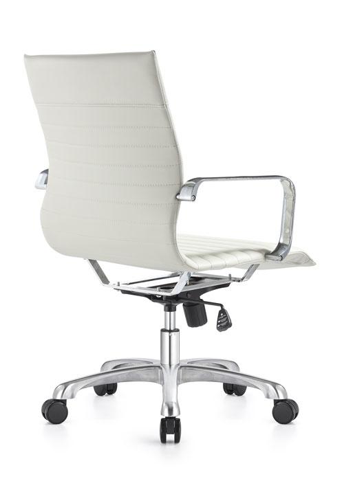 janice mid back conference chair woodstock alan desk 17 <ul> <li>eco leather seating surfaces</li> <li>steel inner frame with web internal seat and back suspension</li> <li>waterfall seat shape</li> <li>hand polished aluminum base and arms</li> <li>oversized 60mm dual wheel carpet casters standard. hard floor casters or glides optional.</li> <li>adjustable tilt tension</li> <li>tilt lock</li> <li>pneumatic gas height adjustment</li> <li>generous dimensions</li> <li>rated for 300 pounds</li> </ul>