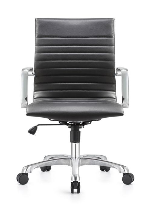 janice mid back conference chair woodstock alan desk 2 <ul> <li>eco leather seating surfaces</li> <li>steel inner frame with web internal seat and back suspension</li> <li>waterfall seat shape</li> <li>hand polished aluminum base and arms</li> <li>oversized 60mm dual wheel carpet casters standard. hard floor casters or glides optional.</li> <li>adjustable tilt tension</li> <li>tilt lock</li> <li>pneumatic gas height adjustment</li> <li>generous dimensions</li> <li>rated for 300 pounds</li> </ul>