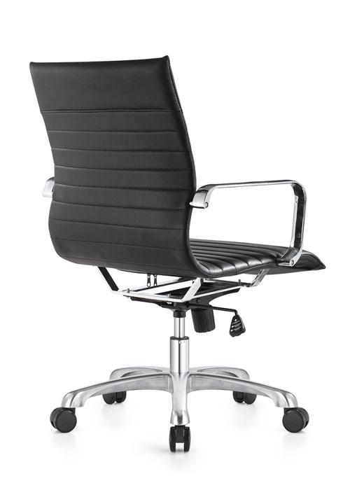 janice mid back conference chair woodstock alan desk 4 <ul> <li>eco leather seating surfaces</li> <li>steel inner frame with web internal seat and back suspension</li> <li>waterfall seat shape</li> <li>hand polished aluminum base and arms</li> <li>oversized 60mm dual wheel carpet casters standard. hard floor casters or glides optional.</li> <li>adjustable tilt tension</li> <li>tilt lock</li> <li>pneumatic gas height adjustment</li> <li>generous dimensions</li> <li>rated for 300 pounds</li> </ul>