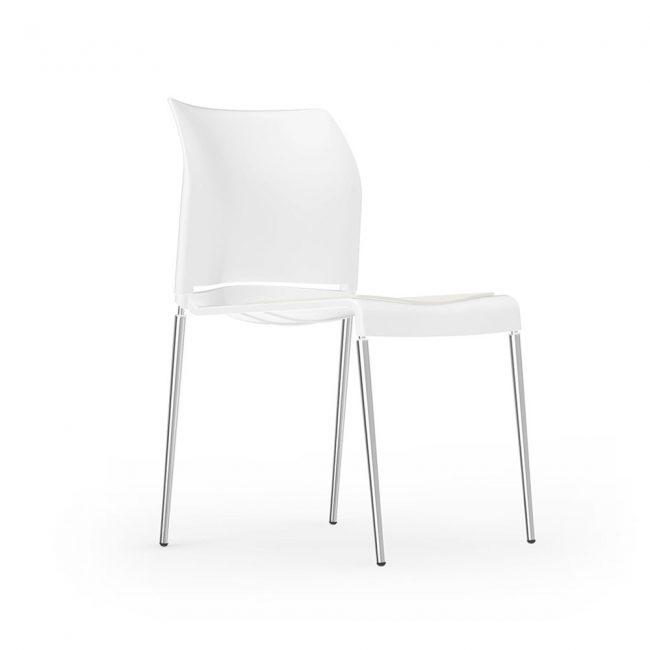 iDesk Pommerac Side Chair 4 Four Leg Alan Desk