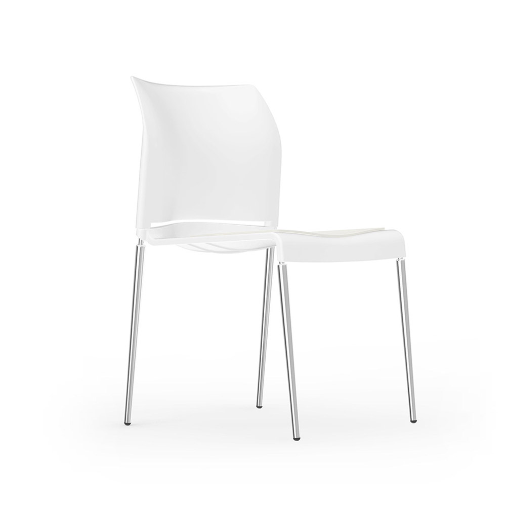 iDesk Pommerac Side Chair 4 Four Leg Alan Desk