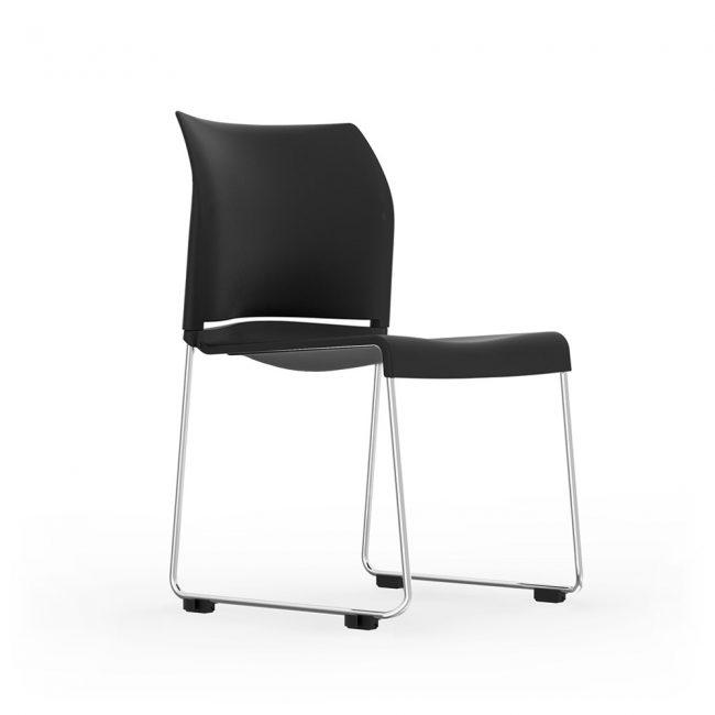 iDesk Pommerac Side Chair Stacking Alan Desk