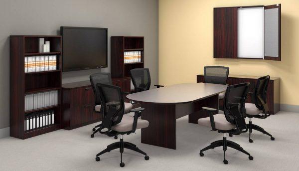 superior laminate racetrack conference table otg alan desk 4
